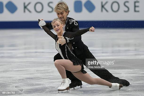 Penny Coomes and Nicholas Buckland of Great Britain compete in the Ice Dance Free Dance during ISU World Figure Skating Championships at Saitama...