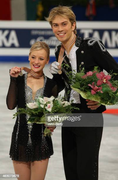 Penny Coomes and Nicholas Buckland of Great Britain finish third and win the bronze medal in the Ice Dance event of the ISU European Figure Skating...