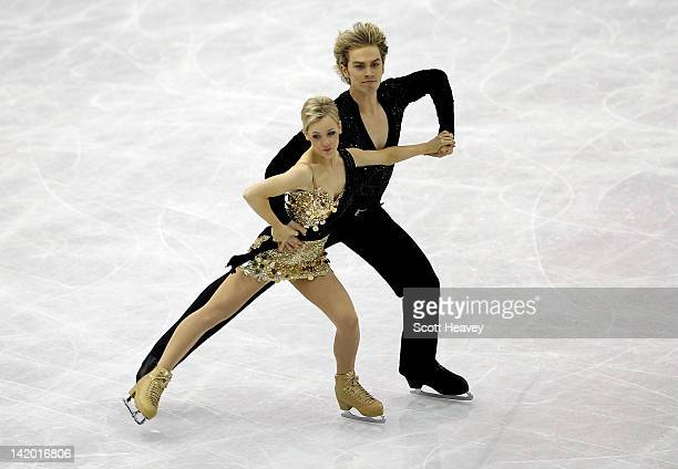 Penny Coomes and Nicholas Buckland of Great Britain perform during day three of the ISU World Figure Skating Championships on March 28 2012 in Nice...