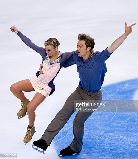 Penny Coomes and Nicholas Buckland of Great Britain skate in the Ice Short Dance during ISU Rostelecom Cup of Figure Skating 2012 at the Megasport...