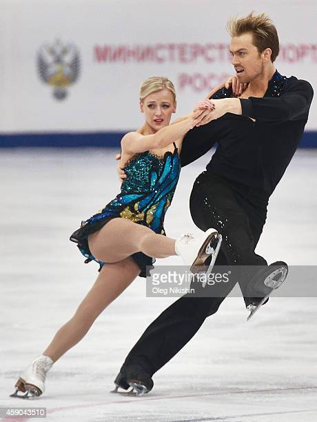 Penny Coomes and Nicholas Buckland of Great Britain skate in the Ice Dance Free Dance during the ISU Rostelecom Cup of Figure Skating 2014 on...