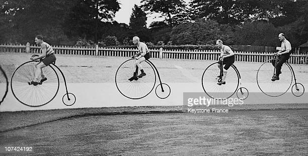 Penny Farthing Race At Herne Hill In England On August 31St 1937