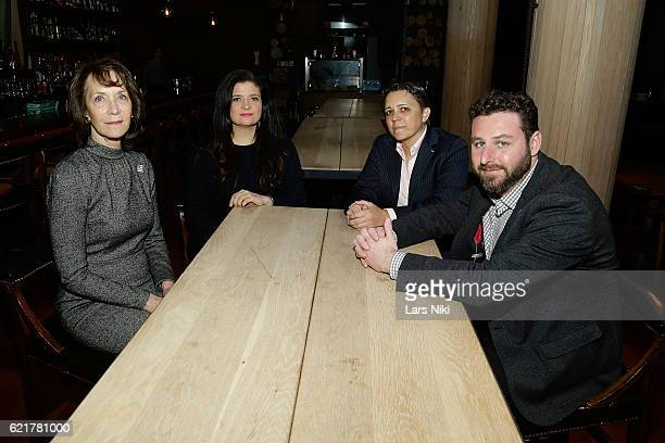 Penny Glazier Chef Alex Guarnaschelli Kristin Rouse and Sam Holmes attend the 3rd annual Dine Out for Heroes event in support of the Bob Woodruff...