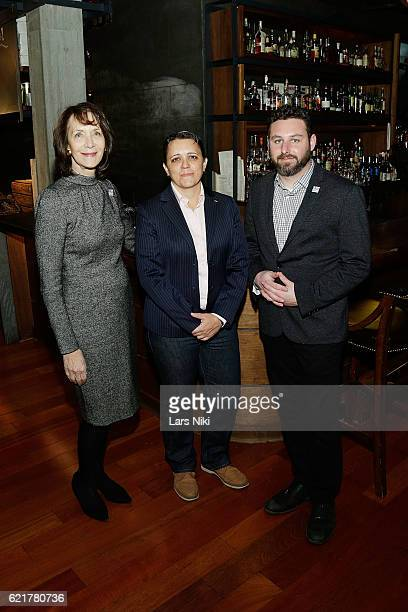 Penny Glazier Kristin Rouse and Sam Holmes attend the 3rd annual Dine Out for Heroes event in support of the Bob Woodruff Foundation at Butter on...