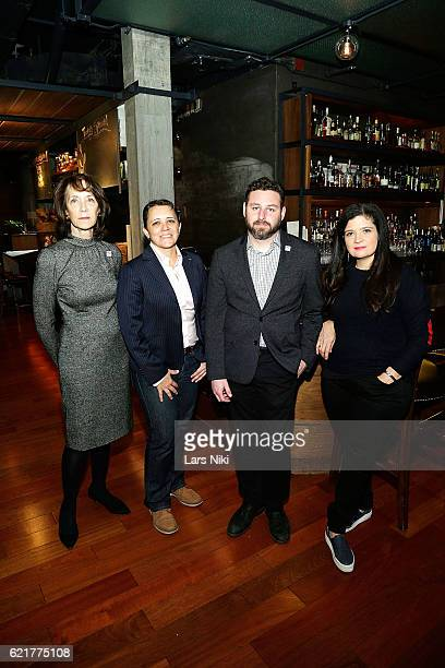Penny Glazier Kristin Rouse Sam Holmes and Chef Alex Guarnaschelli attend the 3rd annual Dine Out for Heroes event in support of the Bob Woodruff...