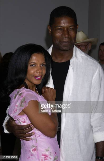 Penny Johnson Jerald and Dennis Haysbert during Screening and Q A with Cast and Producers of '24' at The Museum Of Television Radio in Beverly Hills...