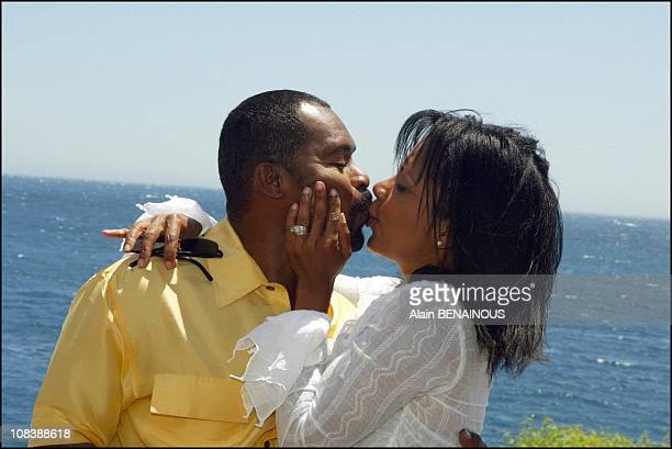 Penny Johnson Jerald and her husband in Monaco on July 03 2003