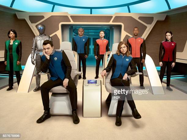 Penny Johnson Jerald Mark Jackson Seth MacFarlane Peter Macon Scott Grimes Adrianne Palicki J Lee and Halston Sage in THE ORVILLE premiering this...