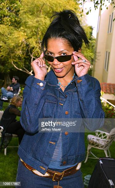 Penny Johnson Jerald trying on Persol Sunglasses during Sunset Marquis Oasis Hosted by Peoples Revolution Day One at Sunset Marquis Hotel and Villas...