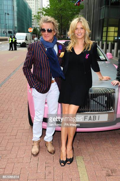 Penny Lancaster and Rod Stewart arrive at the BGC Partners Charity Day in London's Docklands