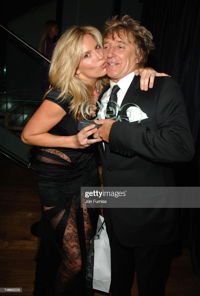 Penny Lancaster and Rod Stewart at the Royal Opera House in London, United Kingdom.