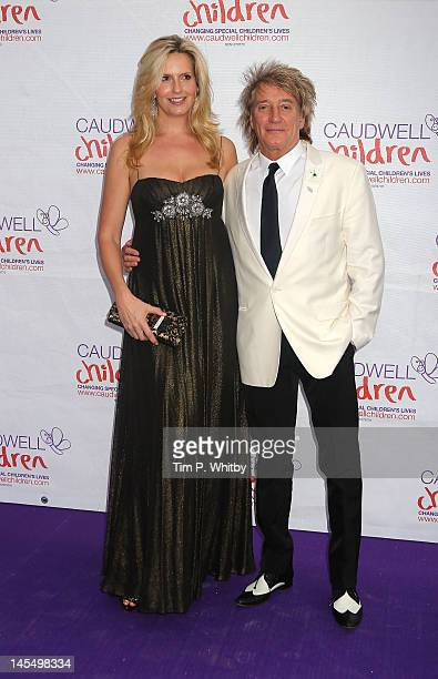 Penny Lancaster and Rod Stewart attend The Diamond Butterfly Ball in aid Of Caudwell Children at Battersea Evolution on May 31 2012 in London England