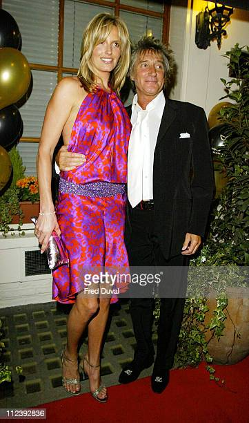 Penny Lancaster and Rod Stewart during 25th Anniversary of The Dover Street Restaurant and Grill in London Great Britain
