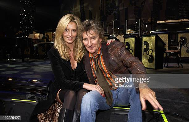 Penny Lancaster and Rod Stewart during AOL Music Live Concert with Rod Stewart on the Eve of the Release of 'StardustThe Great American Songbook Vol...