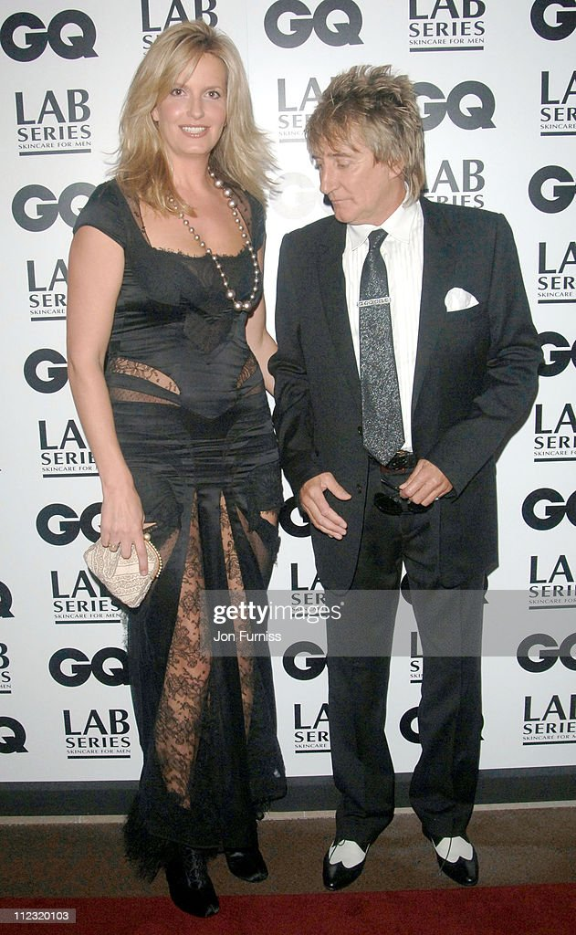 Penny Lancaster and Rod Stewart during GQ Men of the Year Awards - Inside Arrivals at Royal Opera House in London, Great Britain.