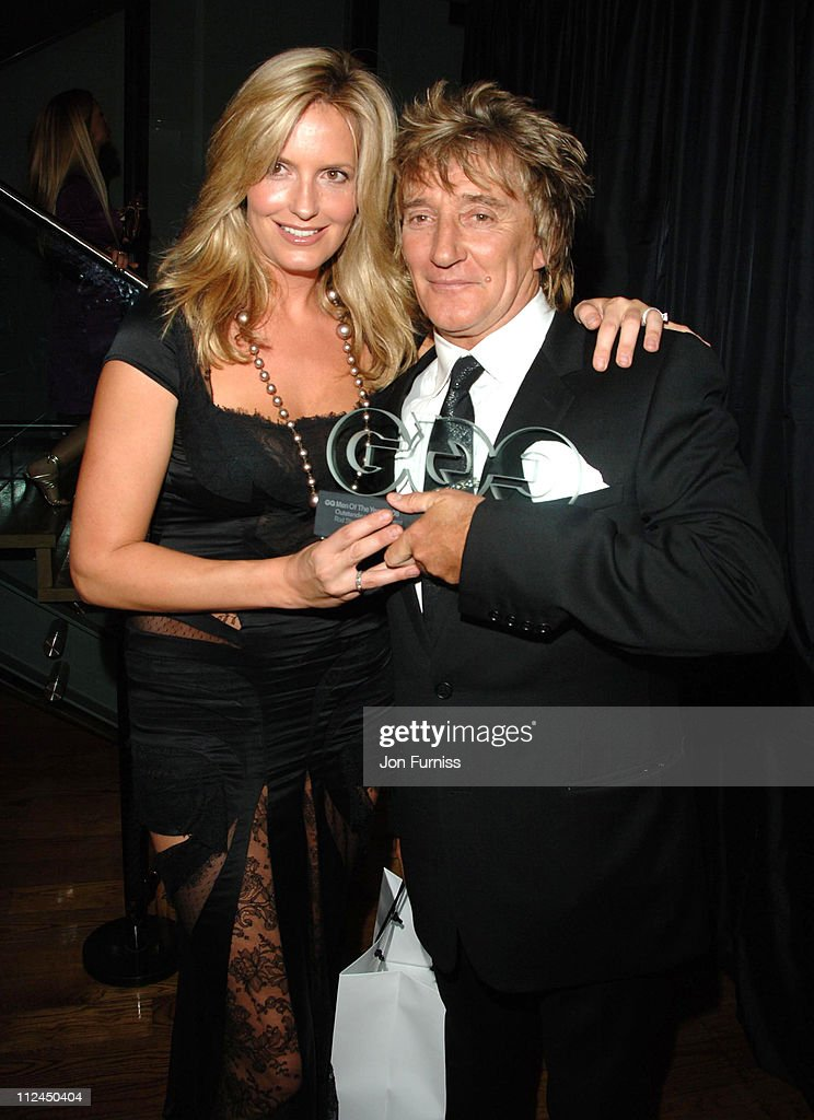 Penny Lancaster and Rod Stewart during GQ Men of the Year Awards - Drinks Reception at Royal Opera House in London, Great Britain.
