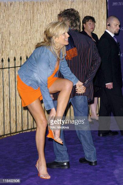 Penny Lancaster and Rod Stewart during The 2005 Serpentine Gallery Summer Party at The Serpentine Gallery in London Great Britain