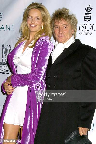 Penny Lancaster and Rod Stewart during The 2005 Wall Street Concert Series Benefiting Wall Street Rising Starring Rod Stewart at Ciprianis Wall...