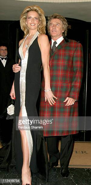 Penny Lancaster and Rod Stewart during The Royal National Institute for The Blind Gala Benefit at The Dorchester in London Great Britain