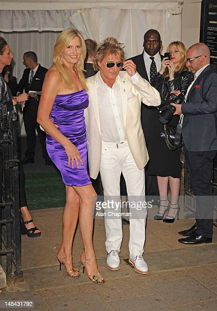 Penny Lancaster and Rod Stewart sighting on May 29 2012 in London England