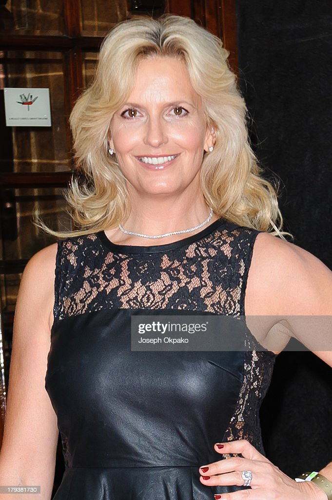 Penny Lancaster arrives at Brits Icon Awards honouring Sir Elton John at London Palladium on September 2, 2013 in London, England.