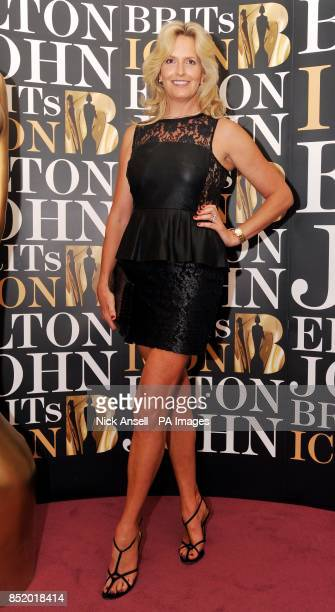 Penny Lancaster arrives at the London Palladium as Sir Elton John will become the first recipient of the BRITs Icon award a new annual honour...