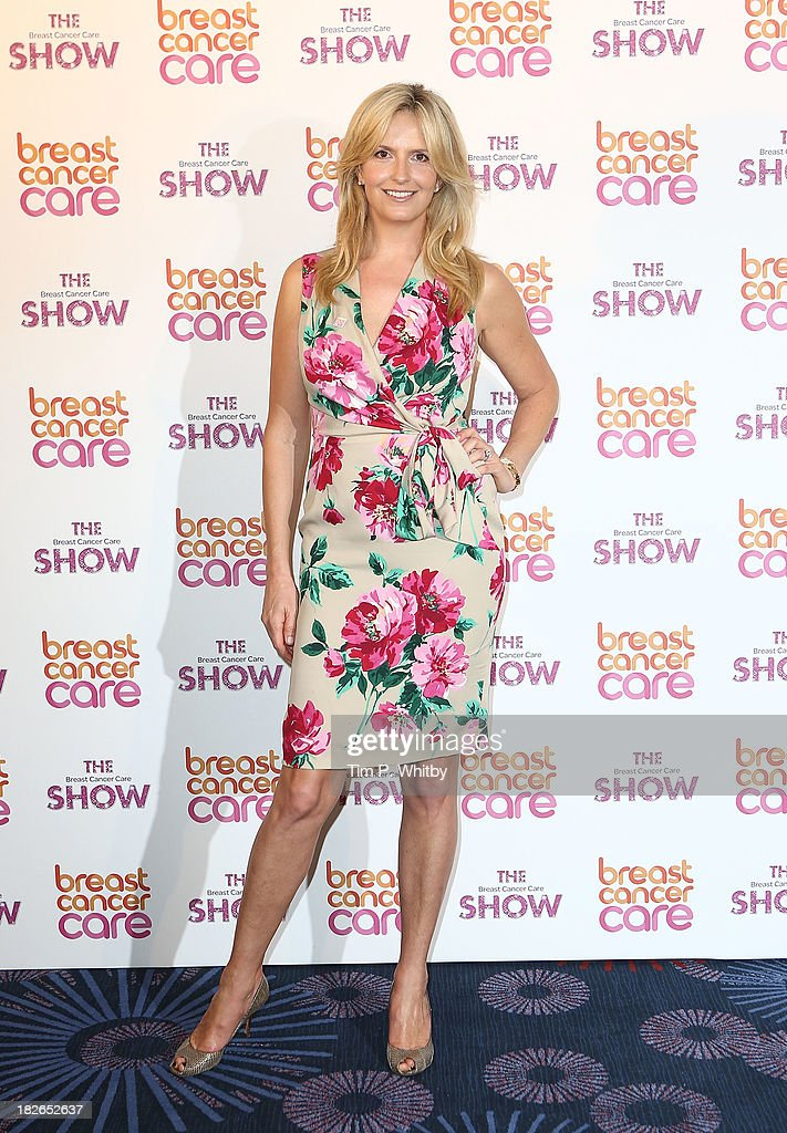 Penny Lancaster arriving at the afternoon performance of the Breast Cancer Care Fashion Show at Grosvenor House, on October 2, 2013 in London, England.