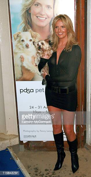 Penny Lancaster during 2007 PDSA Pet Pawtraits Calendar Launch at The Mall Galleries in London Great Britain