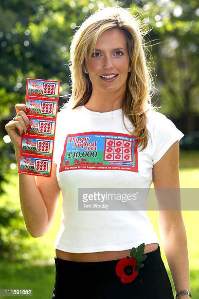 Penny Lancaster during Penny Lancaster Launches The Royal British Legion's 2004 Poppy Appeal at Imperial War Museum Gardens in London Great Britain