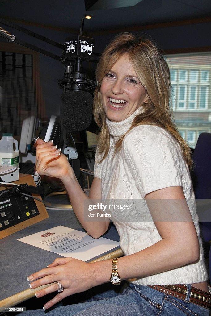Penny Lancaster Visits Johnny Vaughn's Capital Radio Breakfast Show