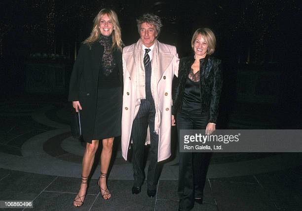 Penny Lancaster Rod Stewart and Ellen Barkin during Penny Lancaster and Rod Stewart Sighting at Le Cirque in New York City November 5 2002 at Le...