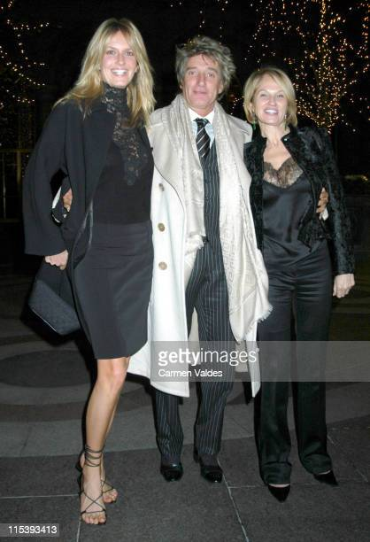 Penny Lancaster Rod Stewart and Ellen Barkin during Sightings Outside Le Cirque New York City January 4 2002 at Le Cirque in New York City New York...