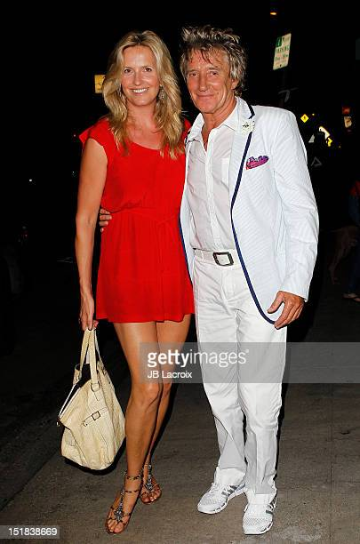Penny Lancaster Stewart and Rod Stewart are seen on September 11 2012 in Los Angeles California