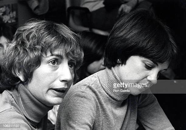 Penny Marshall and Cindy Williams during Cindy Williams' Album Autographing Party at Sam Goody's in New York City New York United States