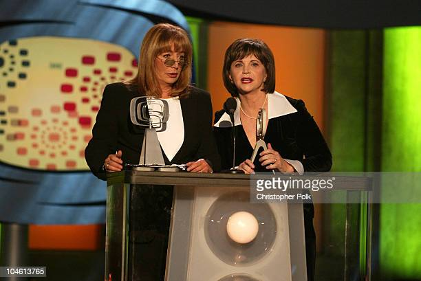 Penny Marshall and Cindy Williams during The TV Land Awards Celebration of Classic TV at Hollywood Palladium in Hollywood CA United States