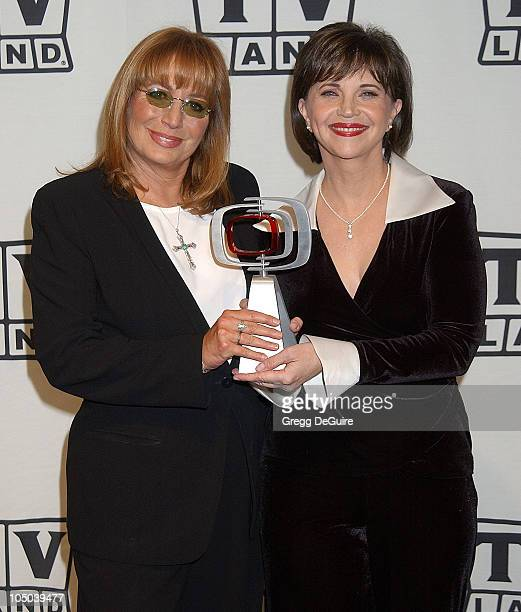 Penny Marshall and Cindy Williams during TV Land Awards A Celebration of Classic TV Press Room at Hollywood Palladium in Hollywood California United...