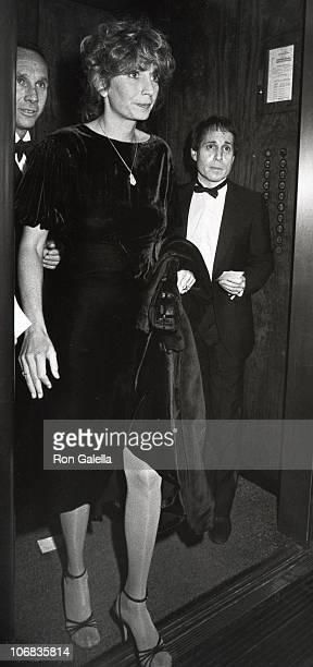 Penny Marshall and Paul Simon during The Rainbow Room during 'A Romantic Evening at the Rainbow RoomNine Sinatra Songs' November 29 1982 at The...