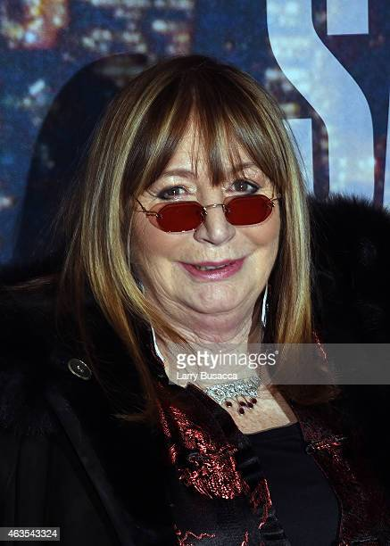 Penny Marshall attends SNL 40th Anniversary Celebration at Rockefeller Plaza on February 15 2015 in New York City