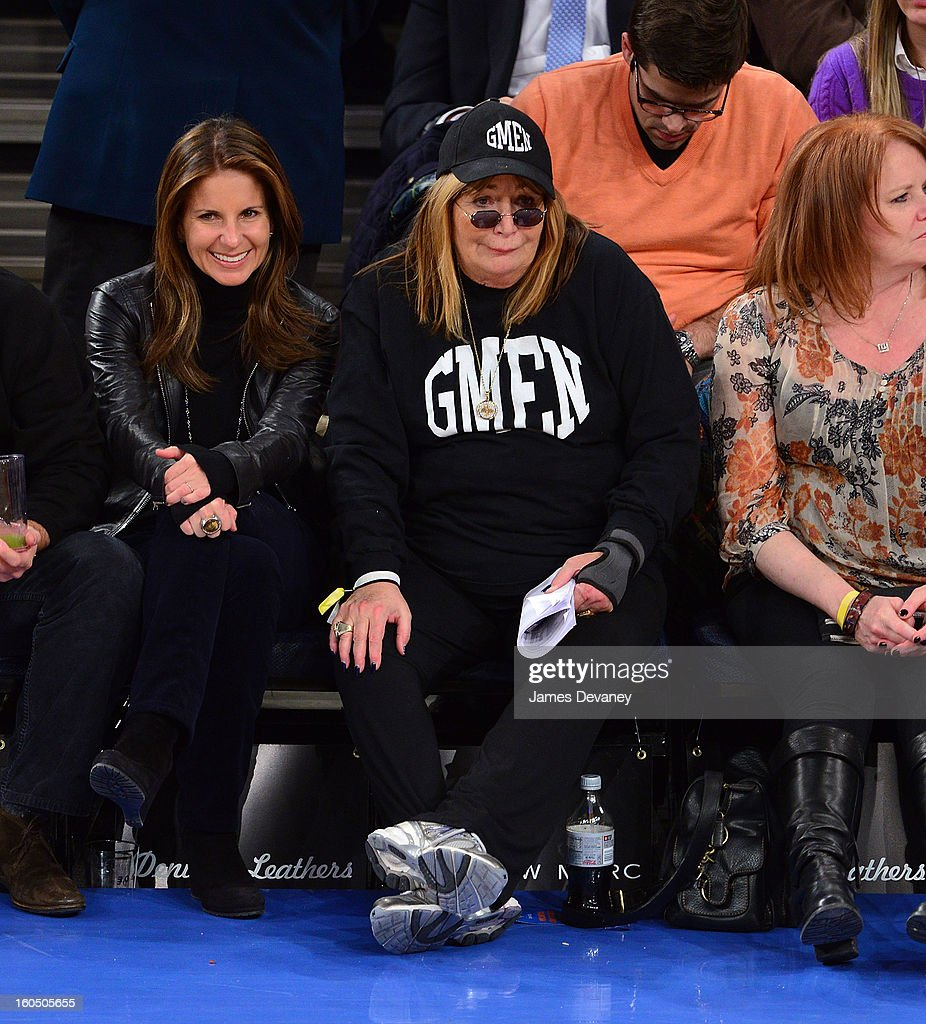 Penny Marshall attends the Milwaukee Bucks vs New York Knicks game at Madison Square Garden on February 1, 2013 in New York City.