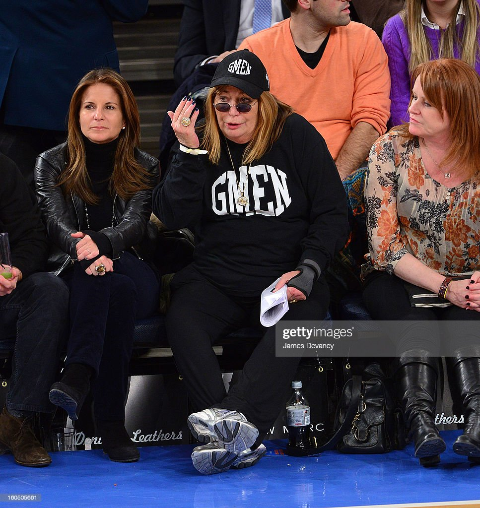 <a gi-track='captionPersonalityLinkClicked' href=/galleries/search?phrase=Penny+Marshall&family=editorial&specificpeople=202999 ng-click='$event.stopPropagation()'>Penny Marshall</a> attends the Milwaukee Bucks vs New York Knicks game at Madison Square Garden on February 1, 2013 in New York City.