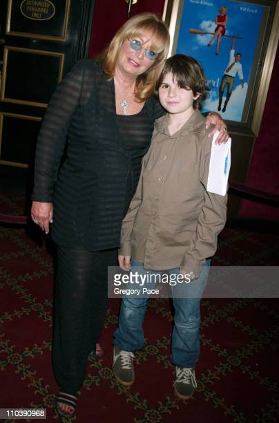 Penny Marshall with grandson Spencer during 'Bewitched' New York City Premiere Inside Arrivals at Ziegfeld Theater in New York City New York United...