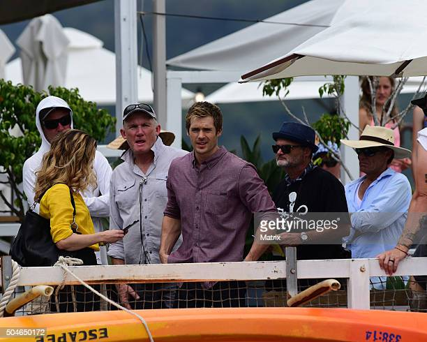 Penny McNamee and Kyle Pryor on January 12 2016 in Sydney Australia