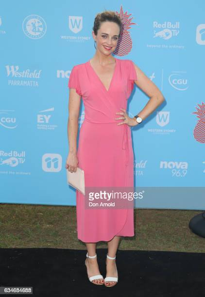 Penny McNamee arrives at Tropfest at Parramatta Park on February 11 2017 in Sydney Australia