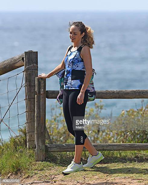 Penny McNamee filming Home and Away on February 9 2016 in Sydney Australia