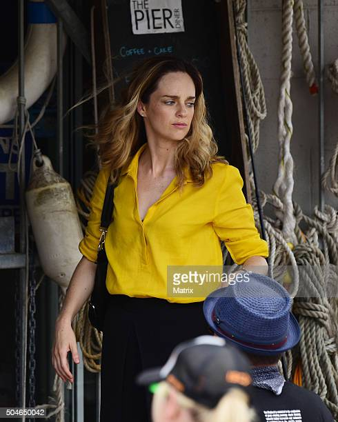 Penny McNamee filming Home and Away on January 12 2016 in Sydney Australia