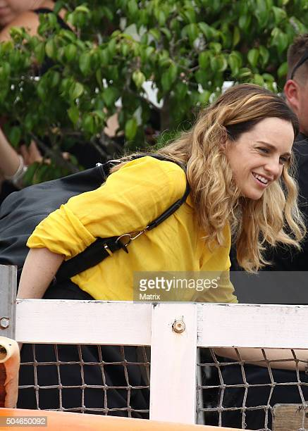 Penny McNamee films Home and Away on January 12 2016 in Sydney Australia