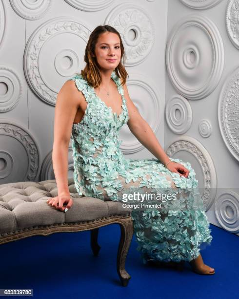 Penny Oleksiak poses in the ETalk Portrait Studio at the 2017 Canadian Screen Awards at the Sony Centre For Performing Arts on March 12 2017 in...