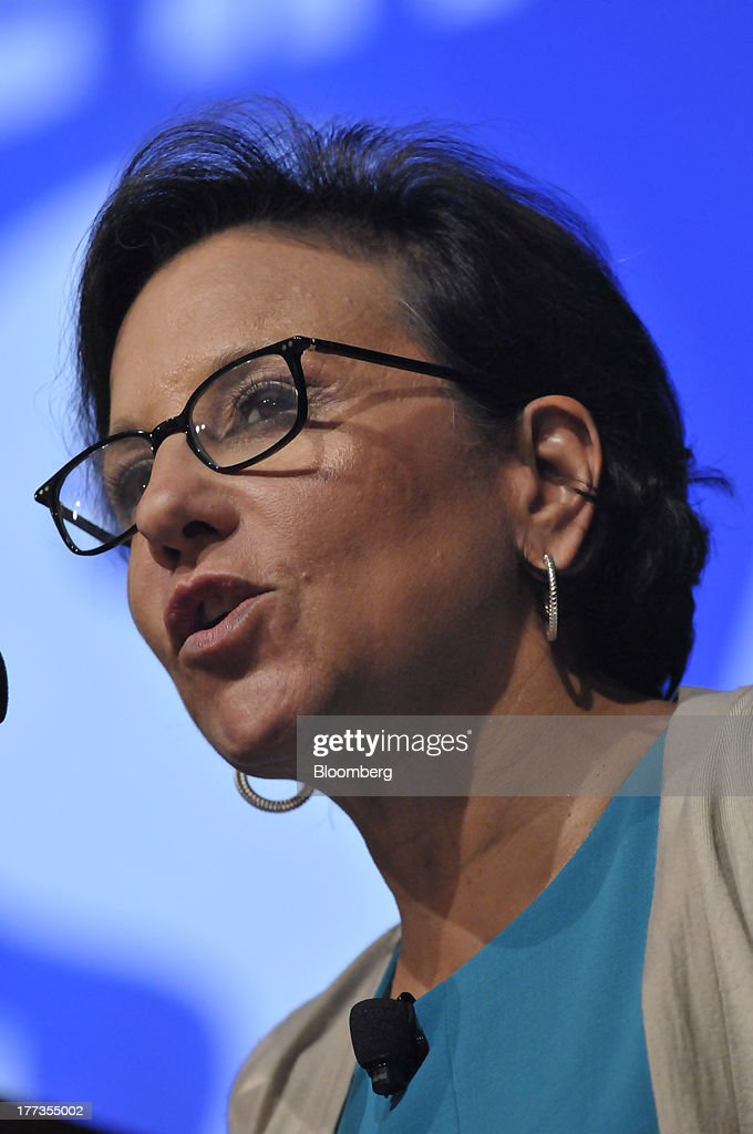 <a gi-track='captionPersonalityLinkClicked' href=/galleries/search?phrase=Penny+Pritzker&family=editorial&specificpeople=5616259 ng-click='$event.stopPropagation()'>Penny Pritzker</a>, U.S. secretary of commerce, speaks at the Wal-Mart Manufacturing Summit in Orlando, Florida, U.S., on Thursday, Aug. 22, 2013. Wal-Mart Stores Inc.s U.S. chief Bill Simon urged companies to create domestic manufacturing jobs, saying the effort is good for businesses as it cuts costs by having goods produced closer to where they are consumed. Photographer: Jim Stem/Bloomberg via Getty Images