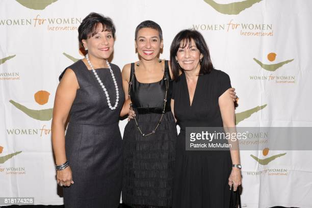 Penny Pritzker Zainab Salbi and Shoeir Khashoggi attend WOMEN FOR WOMEN GALA at Chelsea Piers on November 9 2010 in New York City