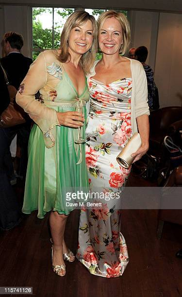 Penny Smith and Mariella Frostrup attend a launch party for Penny Smith's new book 'Summer Holiday' at Century on June 9 2011 in London England